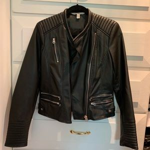 Zara leather jacket, new without tags! Size M